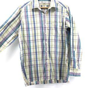 Pierre Balmain Plaid Long Sleeve Shirt